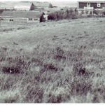 Historic photo of Bunkhouse (left of photo) circa 1920 at Historic Reesor Ranch.