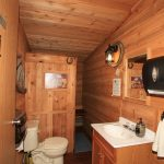 Men's washroom on Rancher's Row, Old Log Barn at Historic Reesor Ranch.