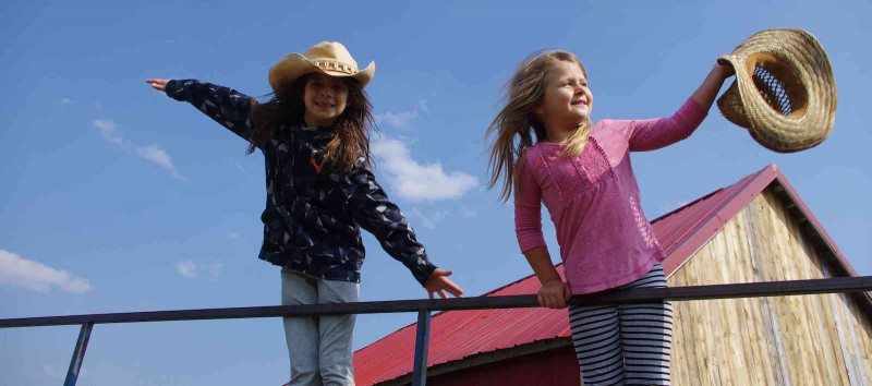 Junior Cowgirls at Historic Reesor Ranch.