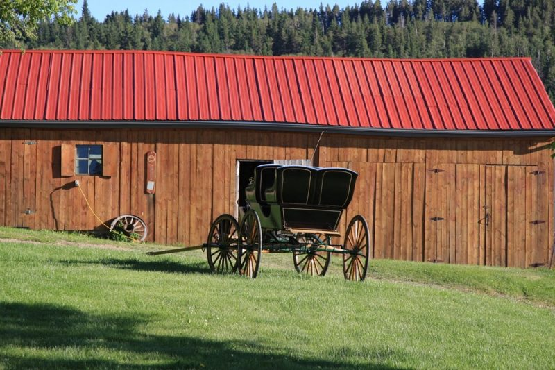Historic Bunkhouse, Blacksmith shop & Tractor shed