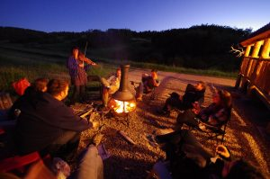 Campfire with music go well together at Historic Reesor Ranch!