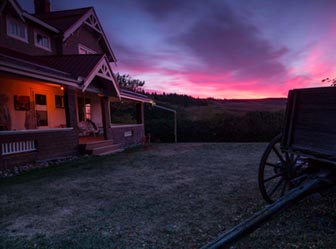Stunning sunsets at Historic Reesor Ranch