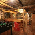 FoozeBall Gamesroom in Old Log Barn, Historic Reesor Ranch.