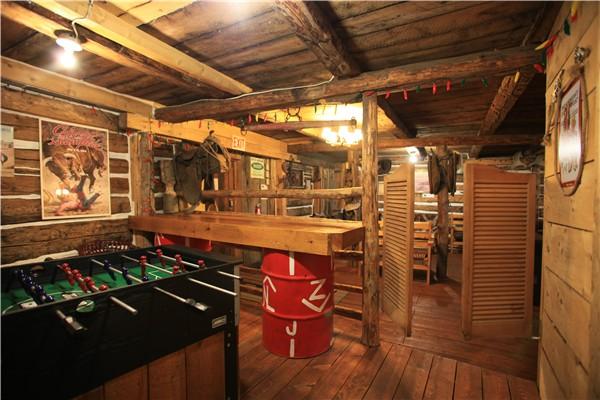 FoozeBall Gamesroom in Old Log Barn, Historic Reesor Ranch.