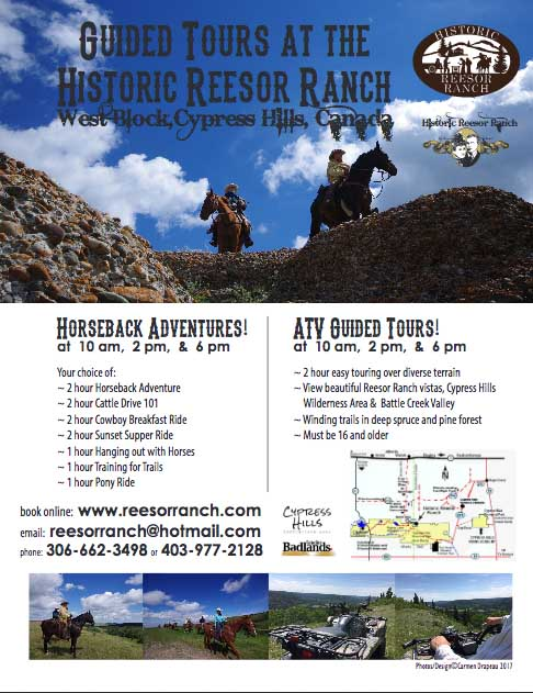 Guided tours poster at the Historic Reesor Ranch.