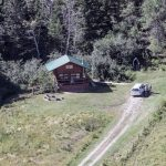 Do you like seclusion? Log Cabin Arial View at Historic Reesor Ranch.