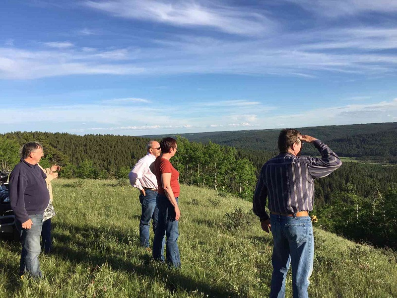 ATV Guided Tour viewpoint of Battle Creek Valley at Historic Reesor Ranch.