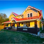 100 years old - 1916 Arts and Crafts style Ranchhouse at Historic Reesor Ranch.