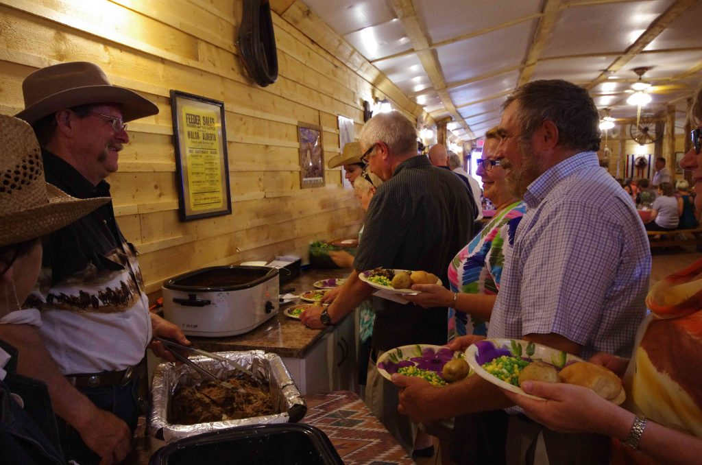 Roast beef feast at the Historic Reesor Ranch.