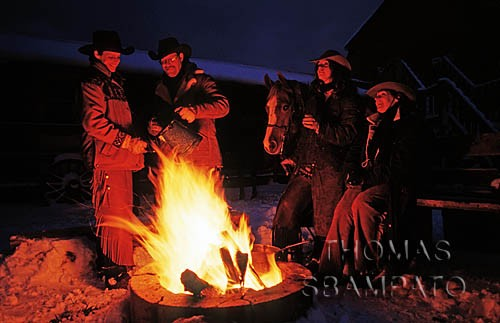 Winter or summer, our campfires warm you to the core at Historic Reesor Ranch.