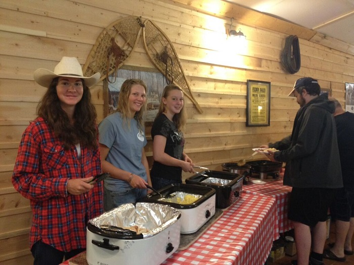 Hearty ranch style breakfast at the Historic Reesor Ranch.