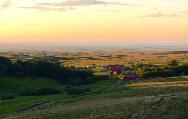 Evening sunset at Historic Reesor Ranch