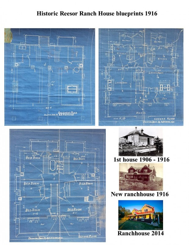 Original Reesor ranchhouse blueprints A.B. Himmelman 1916