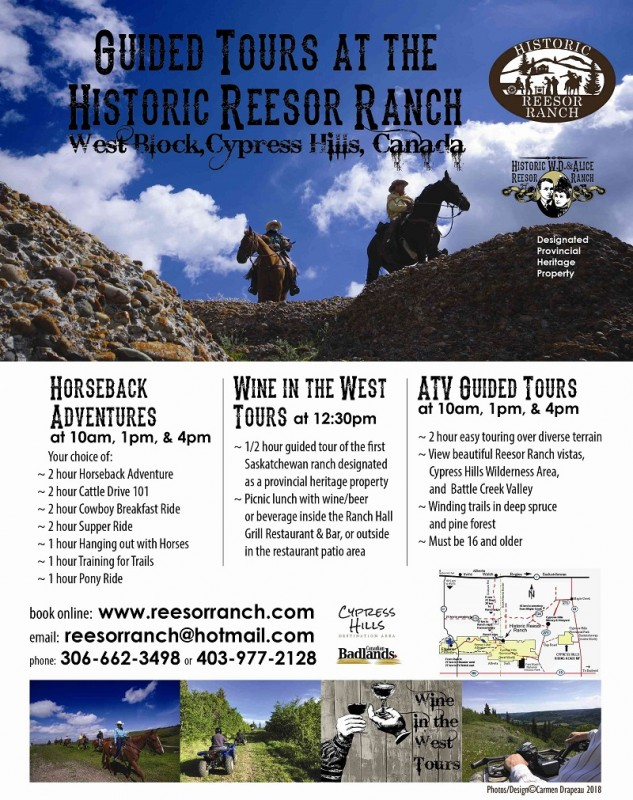 Guided Tours Poster at Historic Reesor Ranch