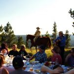 Long Table Dinner Cowboy Poet Scott and Wanderin' Wally at Historic Reesor Ranch