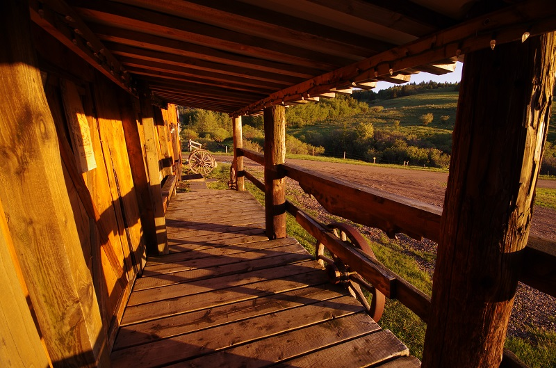 View from the front deck at the Old Log Barn, Historic Reesor Ranch