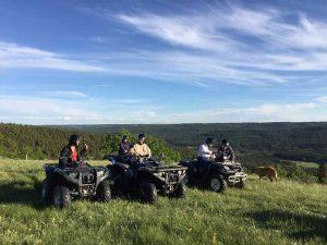 ATV Tours - Enroute to enjoy diverse terrain at Historic Reesor.