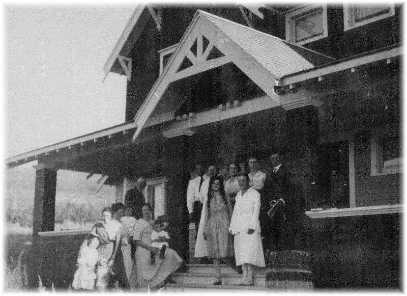 Sunday company at the Historic Reesor Ranch circa 1918.