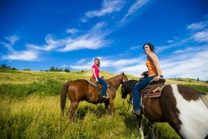 Two riders at Historic Reesor Ranch