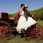 Wedding carriage at Historic Reesor Ranch