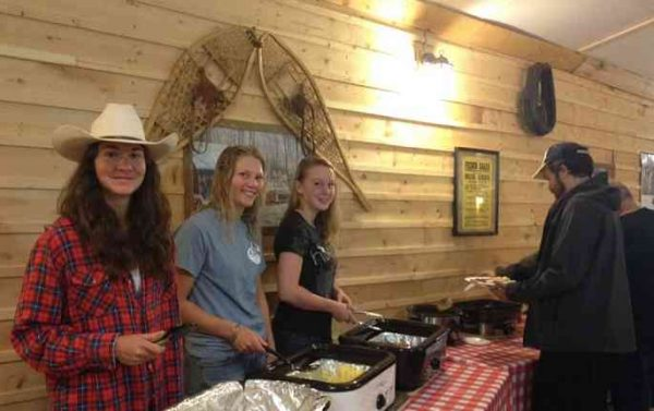 Hot breakfast at the Ranch Hall Grill, Historic Reesor Ranch.