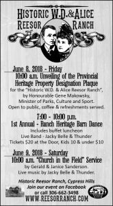Barn Dance and Unveiling of Heritage Plaque June 8, 2018
