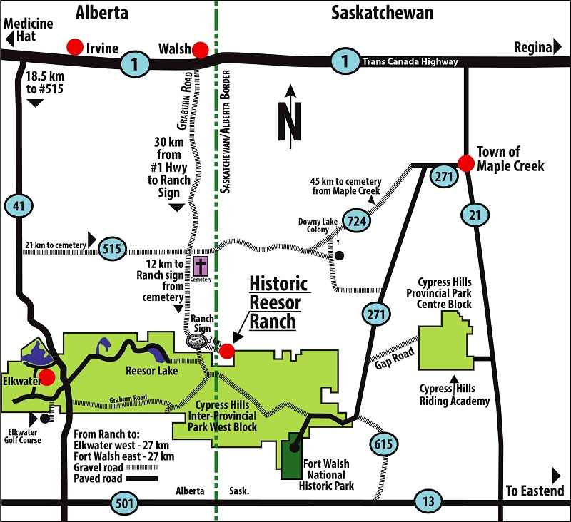 Ranch and Area Map