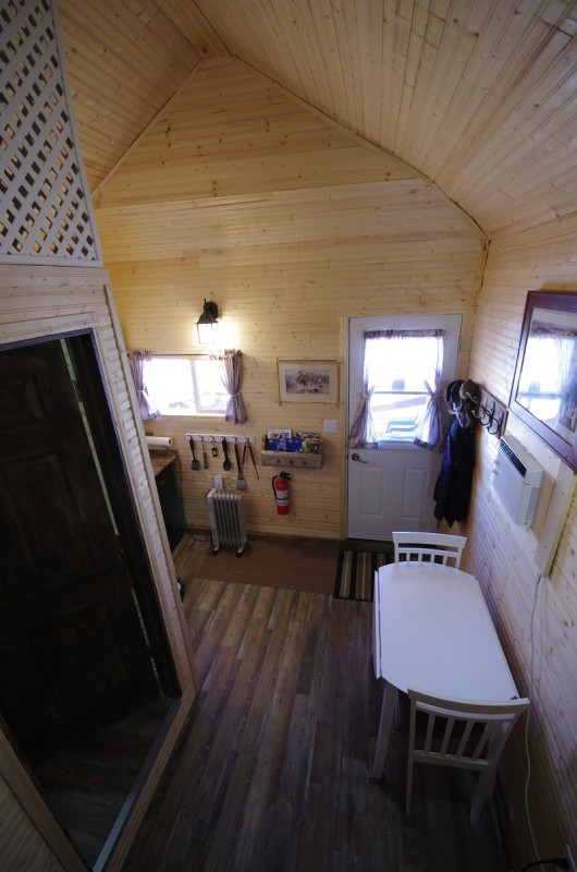 Frontier Cabin upstairs view from double bunkbed
