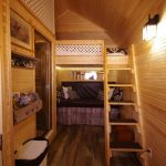 Pioneer Cabin double bunkbeds and stairs