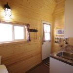 Pioneer Cabin kitchen window and door