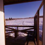 Pioneer Cabin view from doorway