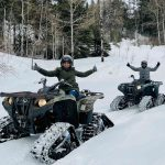 Winter Guided ATV Tour Happy guests!