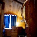 Deer antler repurposed into handle for loft access