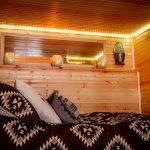 Cozy bottom double bunk